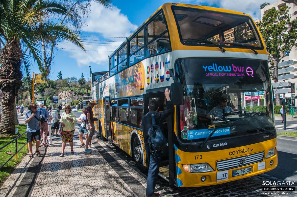 Percurso de Yellow Bus - Câmara de Lobos Tour (Funchal e Câmara de Lobos - Madeira)
